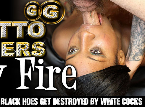 Lady Fire Destroyed On Ghetto Gaggers